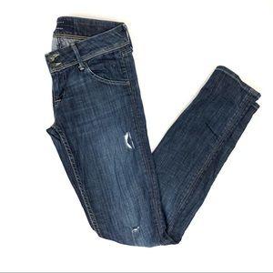 Hudson Slightly distressed Collin skinny jeans -26